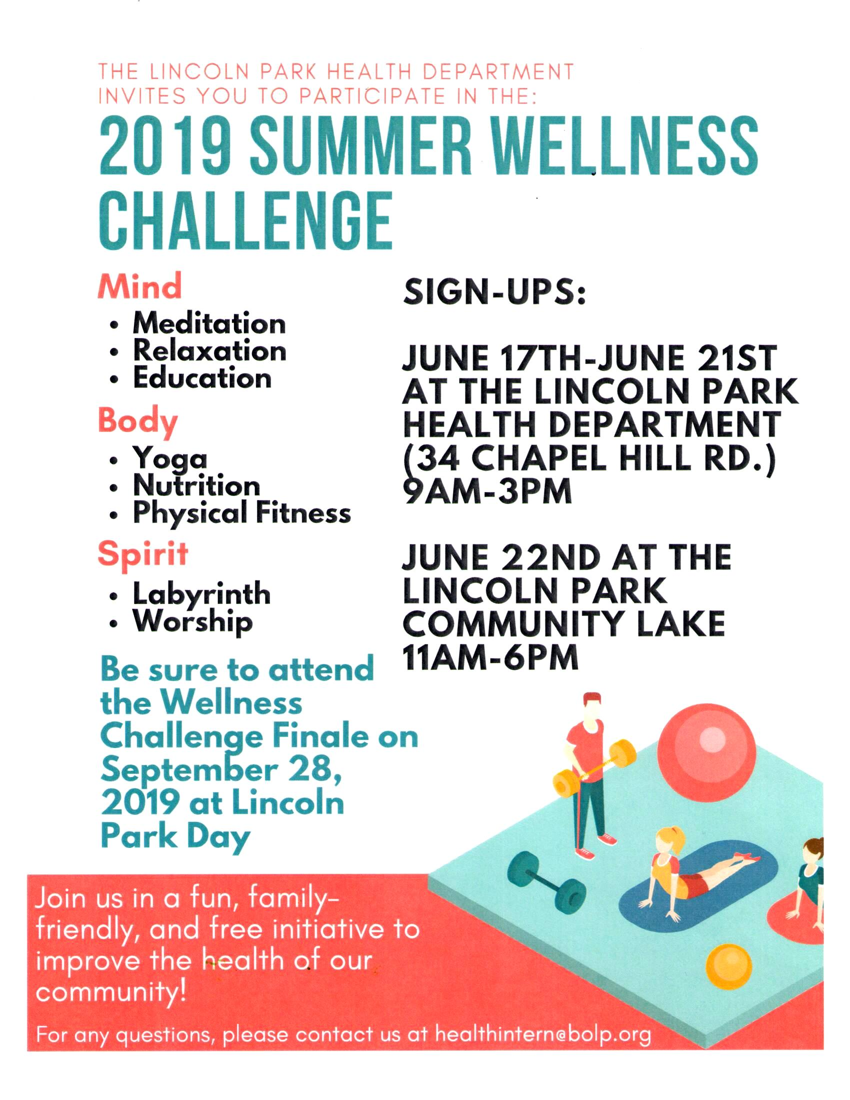 2019 Summer Wellness Challenge