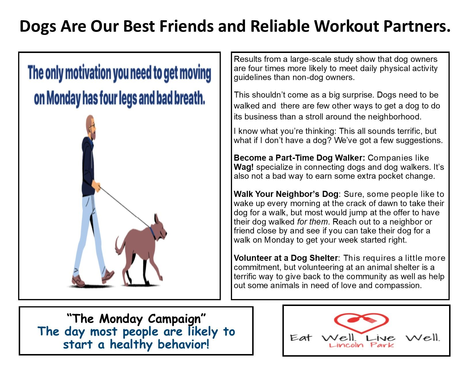 Healthy Monday 10-21-19 Walk a dog